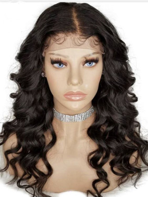Pre Plucked Full Lace Human Hair Wigs With Baby Hair Loose Wave Brazilian Remy Hair Lace Wigs 【00514】