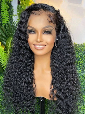 Elva Sexy Curly Brazilian Remy Hair New 13x6 Lace Front Wigs  Pre Plucked Hairline With Baby Hair Swiss Lace【00426】