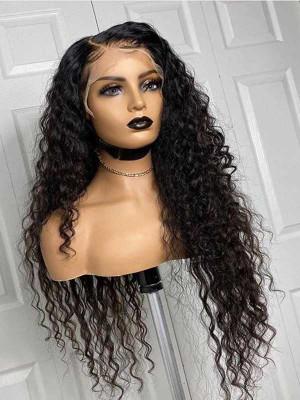 Elva Pre Plucked Water Wave Brazilian Remy Hair 13x6 Lace Front Wigs 150 Density  Swiss Lace【00886】