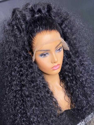 Heavy Density 180% Brazilian Remy Hair Deep Curly 360 Lace Wigs Pre Plucked Natural Hairline With Baby Hair Swiss Lace【00891】