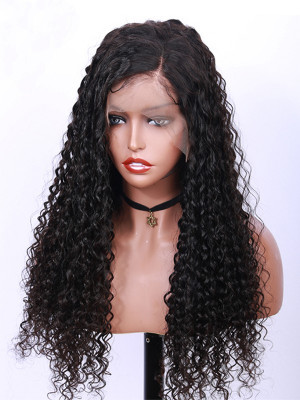 Pre Plucked Sexy Curly Full Lace Human Hair Wigs Pre Plucked With Baby Hair 10-26 Natural Color Brazilian Remy Hair Wigs 【00409】