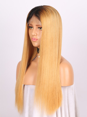 100% Raw Virgin Hair Full Lace Human Hair Wigs #1B/27 150% Density 【00264】