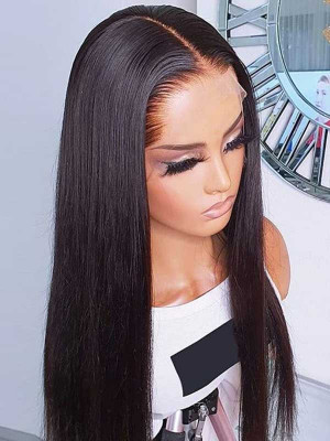 Elva Hair 5*5 HD Closure Wigs Silky Straight HD Lace Wig Brazilian Remy Hair 150 Density 【00931】