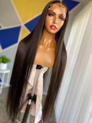 Elva Hair 13x4 HD Lace Front Wigs Silky Straight Brazilian Remy Hair 130 Density 【00928】