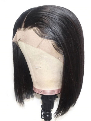 Pre Plucked Silky Straight  Brazilian Remy Hair 13x6 Lace Front Bob Wigs 130 Density 【00584】