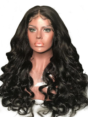 Heavy Density Remy Hair Loose Wave 360 Lace Wigs Pre Plucked Natural Hairline 180 Density  【00220】