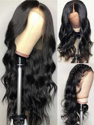 Elva Hair 5*5 HD Closure Wigs Body Wave Brazilian Remy Hair 150 Density 【00929】