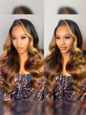 Elva Hair Pre Plucked 13x6 Lace Front Wigs 150 Density  Swiss Lace【00828】