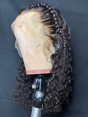 Elva Hair Pre-plucked 13x6 HD Lace Front Wigs Curly Brazilian Remy Hair 150 Density 【00977】