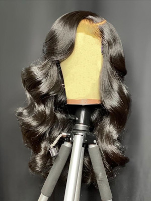 Elva Hair Wigs Pre-plucked Glueless Body Wave Brazilian Remy Hair 370 Lace Human Hair Wig【00982】