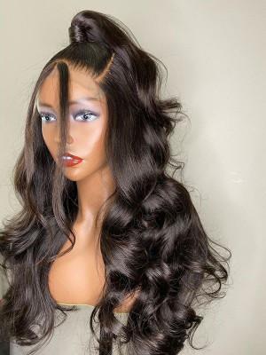Elva Hair 5*5 HD Closure Wigs Body Wave Brazilian Remy Hair 150 Density 【00930】