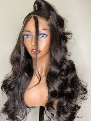 Elva Pre Plucked Body Wave Brazilian Remy Hair 13x6 Lace Front Wigs Swiss Lace【00766】