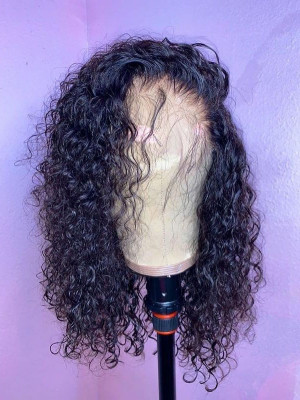 Pre Plucked Curly Hair 13x6 Lace Front Bob Wigs Swiss Lace With Baby Hair Bleached Knots 【00100】