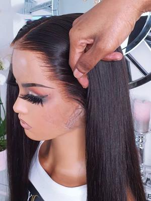 Elva Hair 13x4 HD Lace Front Wigs Silky Straight Brazilian Remy Hair 150 Density 【00108】