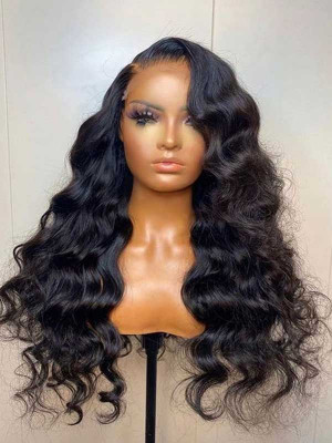 Elva Pre Plucked Body Wave Brazilian Remy Hair 13x6 Lace Front Wigs 150 Density  Swiss Lace【00843】