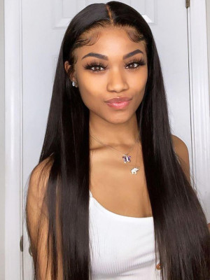 Pre Plucked 150% Silky Straight  13x6 Lace Front Human Hair Wigs Bleached Knots With Baby Hair 【00568】