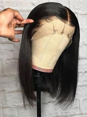 Elva Hair Bob Wig Brazilian Remy Hair 13x6 Lace Front Human Hair Wigs Silky Straight 150 Density 【00724】