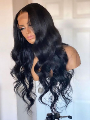 Pre Plucked Body Wave Brazilian Remy Hair 13x4 Lace Front Wigs 【00743】