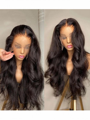 Heavy Density Remy Hair Deep Body Wave 360 Lace Wigs Pre Plucked Natural Hairline 【00123】