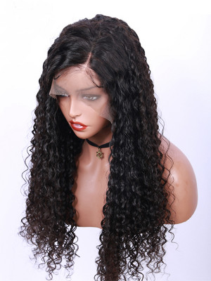 Jerry Curly Brazilian Remy Hair 130 Density 13X6 Lace Frontal Wigs With Baby Hair Pre Plucked Natural Hairline 【00387】