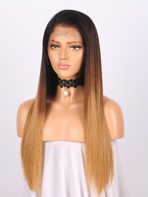 100% Raw Virgin Hair Full Lace Human Hair Wigs #1B/4/8/27 150% Density 【00266】