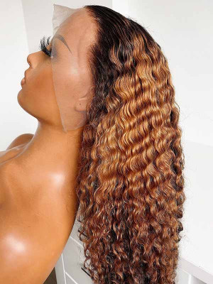 Elva Pre Plucked Deep Curly Yonce Wig  Brazilian Remy Hair 13x6 Lace Front Wigs 150 Density  Swiss Lace【00858】