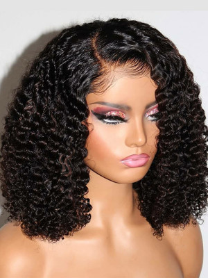Lace is so LAID You Thought It was Scalp! Exotic Curly Bob Pre Plucked Invisible Swiss 13x3.5x6 Lace Frontal Wig Elva【00332】