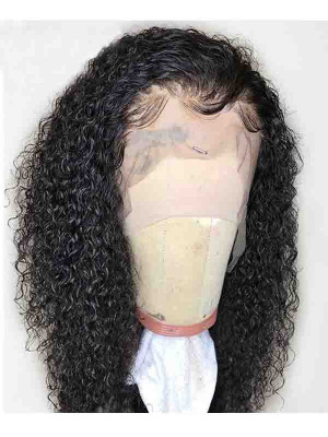 Elva Hair Pre Plucked Deep Curly Brazilian Remy Hair 13x6 Lace Front Wigs 150 Density Swiss Lace【00816】