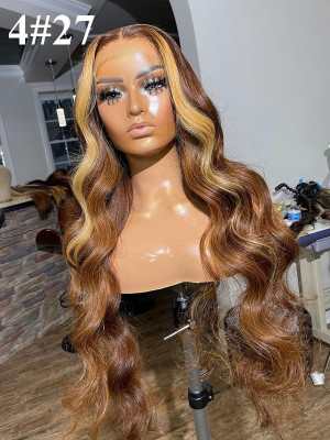 13x2 Lace Front Wig Classy Wave Highlight Color. If You Are Looking For Colorful  Wigs, We Have The Best! 100% Human Hair 16 Inch-20 Inch Virgin Human Hair【00996】