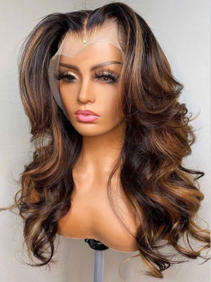 Elva Hair Ombre Color 1b#T4#H27# Body Wave Brazilian Remy Hair 13x6 Lace Front Human Hair Wigs 【00987】