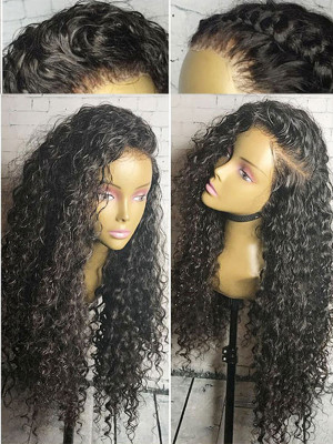 Pre Plucked Curly Full Lace Human Hair Wigs Pre Plucked With Baby Hair 10-26 150 Density Brazilian Remy Hair Wigs 【00402】