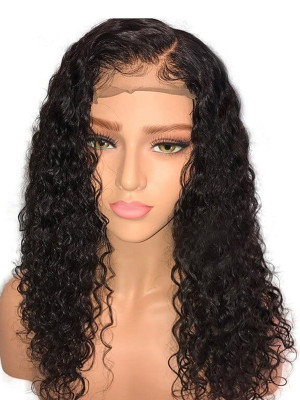 Pre Plucked Sexy Curly Brazilian Human Hair Silk Base Lace Front Wigs 150 Density 【00370】
