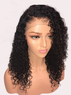 Heavy Density Sexy Curly Brazilian Remy Hair 360 Lace Frontal Wig Pre Plucked With Baby Hair 【00348】