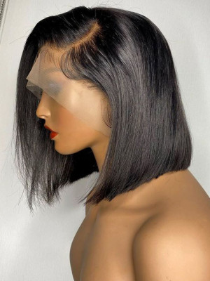 Elva Straight Bob 360 Lace Wig Pre Plucked With Baby Hair  Brazilian Remy Hair Glueless Wig 【00955】
