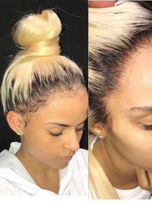 Raw Virgin Hair 13x6 Lace Front Human Hair Wigs #1B/613 150% Density 【00280】