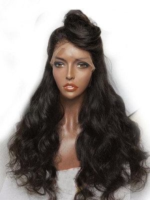 Full Lace Human Hair Wigs For Black Women Brazilian Deep Body Wave Pre Plucked Natural Hairline With Baby Hair Remy Hair Wig 【00320】