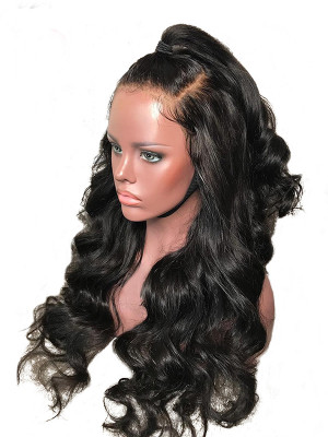 Pre Plucked Brazilian Human Hair Body Wave Silk Base Lace Front Wig 150 Density 【00205】