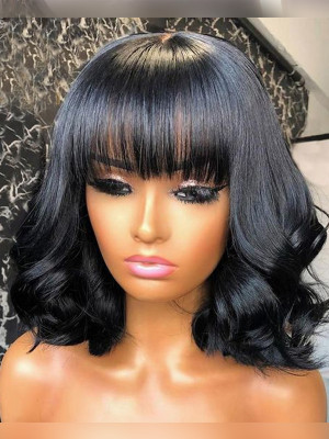 Bang Bob Wig it comes exactly as pictures! !13x6 Lace Front Wigs Swiss Lace【00117】