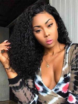 Elva Hair 370 Lace Wigs Brazilian Remy Hair Water Wave 150% Density Pre plucked For Black Women【00669】
