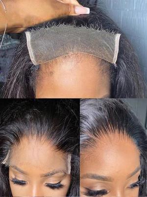 Elva Hair 5*5 HD Closure Wigs Silky Straight HD Lace Wig Brazilian Remy Hair 130 Density 【00931】
