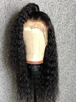 Jerry Curly Brazilian Remy Hair 130 Density 13X6 Lace Frontal Wigs With Baby Hair Pre Plucked Natural Hairline 【00337】