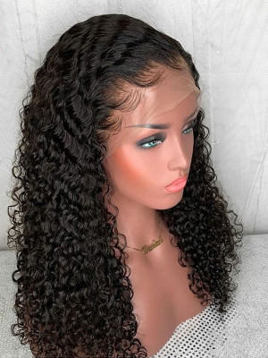 Pre Plucked Sexy Curly Full Lace Human Hair Wigs Pre Plucked With Baby Hair 8-26 150% Brazilian Remy Hair Wigs 【00410】