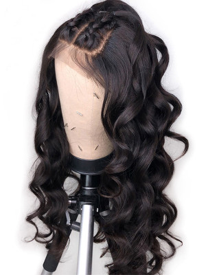 Elva Hair Wigs Fake Scalp Wig Loose Wave Remy Hair 13x6 Lace Front Human Hair Wigs With Fake Scalp 150 Density Pre plucked With Baby Hair 【00711】