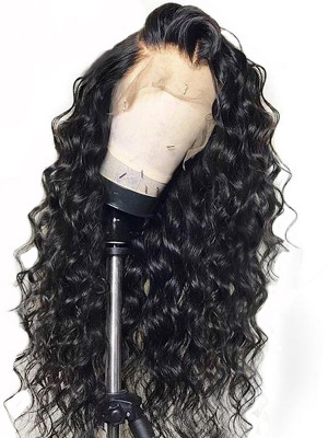 Elva Hair Pre Plucked Water Wave Brazilian Remy Hair 13x6 Lace Front Wigs 150 Density Swiss Lace【00811】