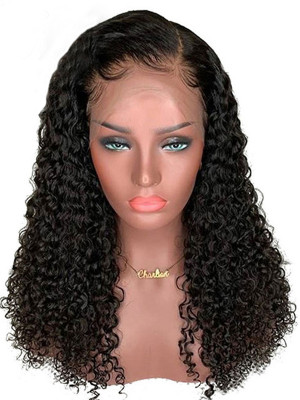 Heavy Density Candy Curly Brazilian Remy Hair 360 Lace Frontal Wig Pre Plucked With Baby Hair Swiss Lace【00343】