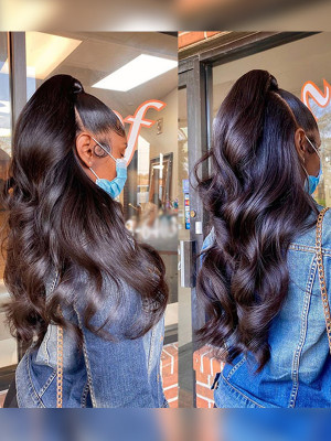 Kim Kardashian Style Super Loose Wave Lace Frontal Wig Raw Cambodian Wave【00766】