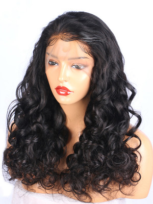 Pre Plucked Full Lace Human Hair Wigs With Baby Hair Loose Wave150 Density Brazilian Remy Hair Lace Wigs 【00401】