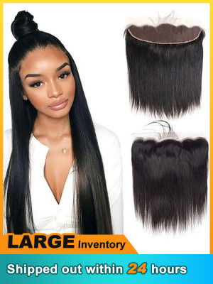 13x4 Lace Frontal Closure HD Human Hair Swiss Lace Closure Transparent Middle Free Three Part Top Closure【00123】