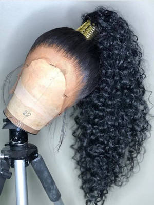 Curly Remy Hair  13x6 Lace Front Human Hair Wigs 150 Density 【00521】