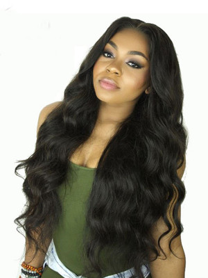 Heavy Density Remy Hair Deep Body Wave 360 Lace Wigs Pre Plucked Natural Hairline Bleached Knots 【00391】